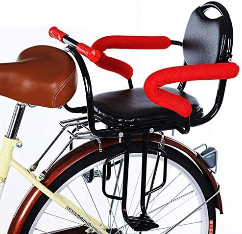 Nurth Bicycle Baby Kids Rear Seat with Cushion Back Rest Foot Pedals Armrest Detachable Fence product image