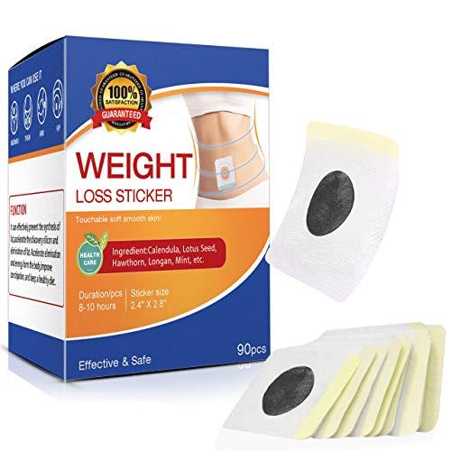 90 Pcs Weight Loss Sticker, Quick Slimming Tightening Sticker for Beer Belly, Buckets Waist, Waist Abdominal Fat