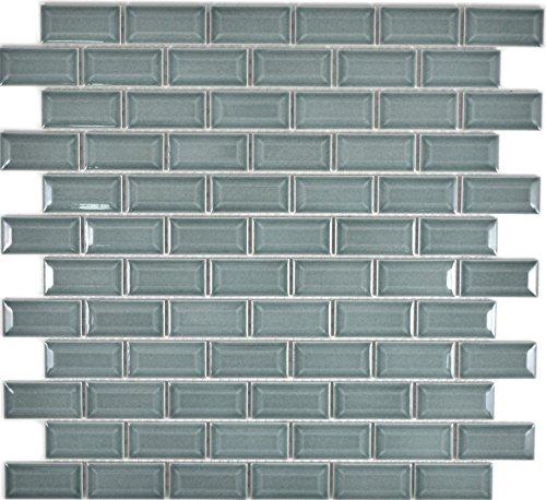 Mini Metro Subway Mosaik Fliese Keramik Brick Bond Diamond petrol für WAND BAD WC DUSCHE KÜCHE FLIESENSPIEGEL THEKENVERKLEIDUNG BADEWANNENVERKLEIDUNG WB26-0218
