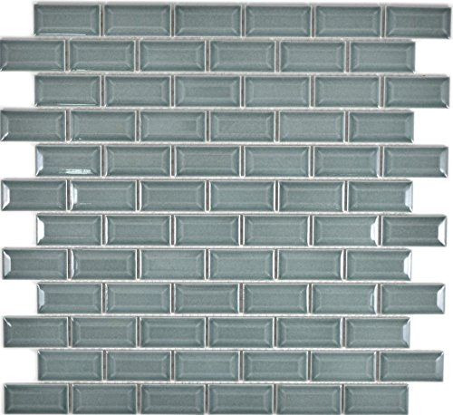 Mini Metro Subway Mosaik Fliese Keramik Brick Bond Diamond petrol für WAND BAD WC DUSCHE KÜCHE FLIESENSPIEGEL THEKENVERKLEIDUNG BADEWANNENVERKLEIDUNG WB26-0218