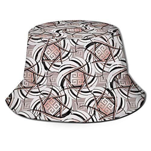 521 Sombrero De Sol Llave Griega Intrincada Sombrero Pescador Protección contra Sol Sombrero De Pescador Diseño Clásico Gorra para Hombre Mujer para Playa Piscina Al Aire Libre