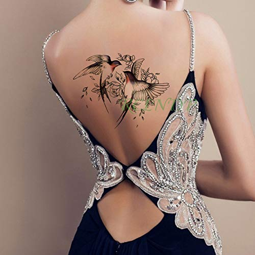 ljmljm 4pcs Impermeable Etiqueta engomada del Tatuaje divinas alas ...