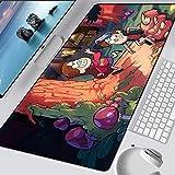 MSYPNML Alfombrilla deRatón Extendida Dibujos Animados animación pie Seta Personaje XXL 900 x 300 x 5 mm Base de Goma Antideslizante, Superficie cómoda con Textura para portátil Mouse Pad Gaming Pre