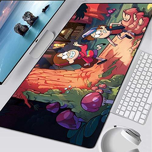 MSYPNML Alfombrilla Gaming de Ratón Dibujos Animados animación pie Seta Personaje XXXL 1000 x 500 x 5 mm Resistente al Desgaste Pad con Base Antideslizante Alfombrilla Escritorio para Gamers y Ordena