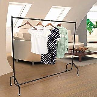 Porte vêtement à roulettes Portant en Métal Portant à roulettes Robuste Penderie Mobile pour Chambre à Coucher Balcon Buan...