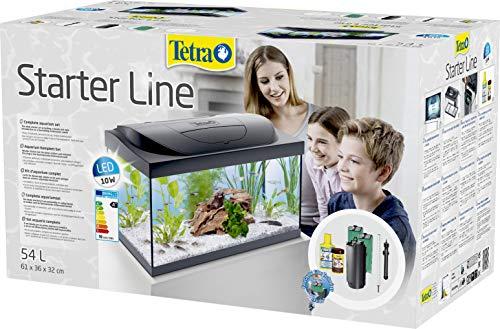 Tetra Starter Line Aquarium-Komplettset mit LED-Beleuchtung stabiles 54 Liter Einsteigerbecken mit Technik, Futter und Pflegemitteln - 6