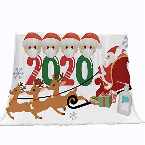 Earlyad Couverture de Noël en microfibre douce et innovante, couverture en flanelle pour lit de canapé à la maison