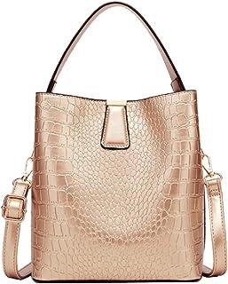 Taschland Damen Handtasche aus Kunstleder Schultertasche Umhängetasche für Büro Schule Einkauf