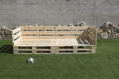 🌲LOS MATERIALES DE NUESTROS PALETS 🌲: Nuestros palets son fabricados con madera nueva maciza de pino de 1ª calidad, con lijado previo (no son palets reacondicionados, son nuevos). Sofa PALETS Europeo 2,4m Nuevo A ESTRENAR Interior/Exterior 🌲DECORACIÓ...