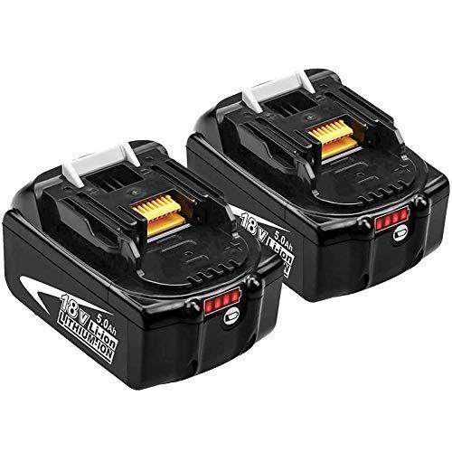 GatoPower 2 Stück Ersatzakku für BL1850B 18V 5.0Ah Akku BL1850 BL1840B BL1830B BL1840 BL1830 BL1815 194205-3 194309-1 LXT400 mit Anzeige