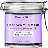 Dead Sea Mud Mask Infused with Lavender Oil | Deep Pore Cleansing Facial & Body Mask | Best Pore Reducer & Minimizer to Help Treat Acne | Blackheads & Oily Skin - Soothing and Nourishing 8.8 oz