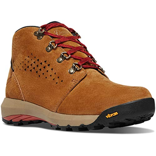 "Danner Women's 64500 Inquire Chukka 4"" Waterproof Lifestyle Boot, Brown/Red - 10.5 M"