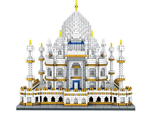 SMACO 3D-Puzzle Weltberühmte Architektur Indien Taj Mahal Palace Modell Diamant Mini DIY Micro Building Nano Blocks Bricks Spielzeug Für Kinder Für Jungen Und Mädchen Geburtstagsgeschenk