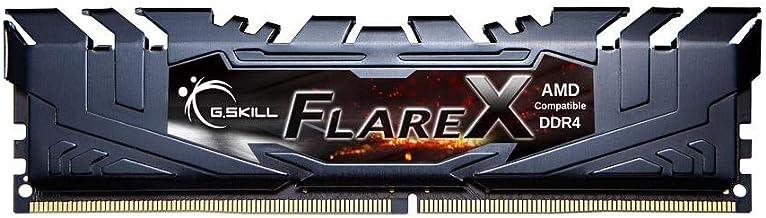 G.Skill Flare X Gaming Serisi CL16 (16-18-18-38) Alüminyum Soğutuculu 1.35V AMD Ryzen Uyumlu Dual Bellek Kiti, 2x8GB, 3200...