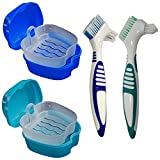 KISEER 2 Pack Denture Bath Case Cup Box Holder Storage Container...