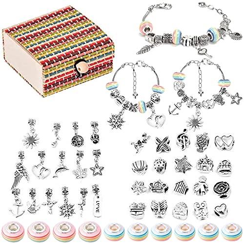 Kit per fare braccialetti, Queta braccialetti a catena serpente in argento fai-da-te con borsa regalo artigianale per ragazze