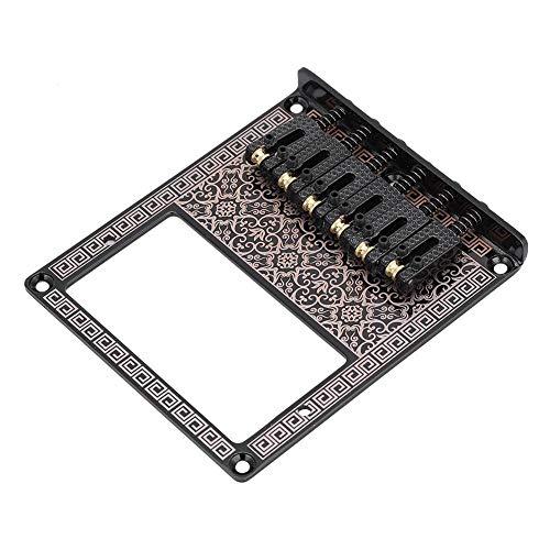 Zinc Alloy Fixed Hardtail Saddle Electric Guitar Bridge Top Load Tailpiece for Electric Guitars(Black Kaleidoscope)