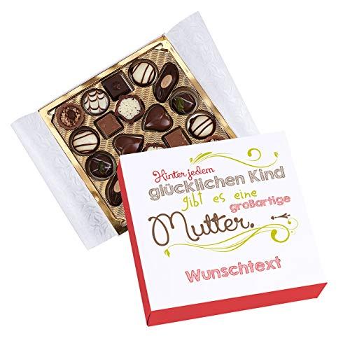 Herz & Heim® Lindt Pralinen zum Muttertag - Hinter jedem glücklichen Kind - und eigener Widmung unter dem Spruch