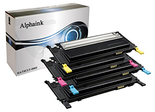 Toner Alphaink AI-KIT-4-406S Compatibile con Samsung CLP-360 365 CLX-3300 3305 SL-C460W Xpress C460