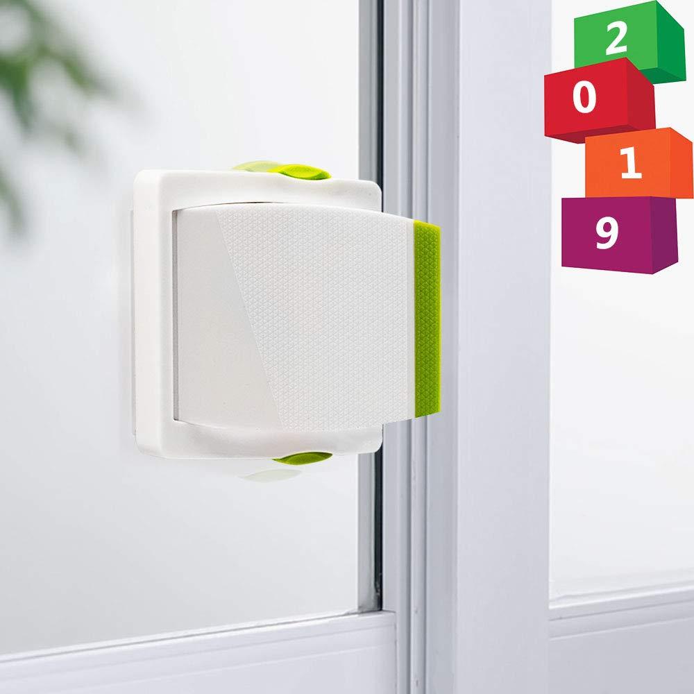 Kelamayi - Cerradura de seguridad para puerta corredera (4 unidades), color blanco y verde: Amazon.es: Hogar