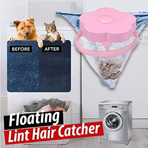 6-teilige Haarmaschine für Waschmaschinen, wiederverwendbare schwimmende Flusen und Haarfänger, Filternetzbeutel, Haarfilter-Netzbeutel