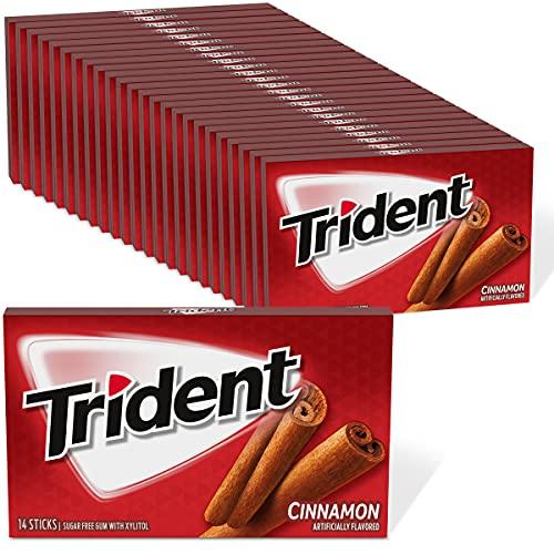 Trident Cinnamon Sugar Free Gum, 24 Packs of 14 Pieces (336 Total Pieces)