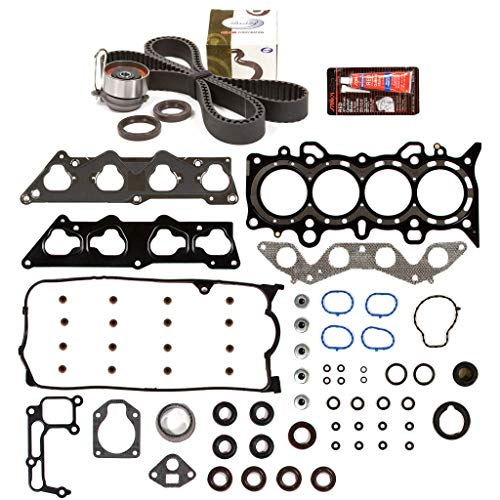 Evergreen HSTBK4038 Head Gasket Set Timing Belt Kit Compatible with/Replacement for 01-05 Honda Civic DX LX 1.7L SOHC D17A1