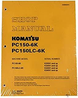 Komatsu PC150-6K Excavator Workshop Repair Service Manual - Part Number # UEBD000701