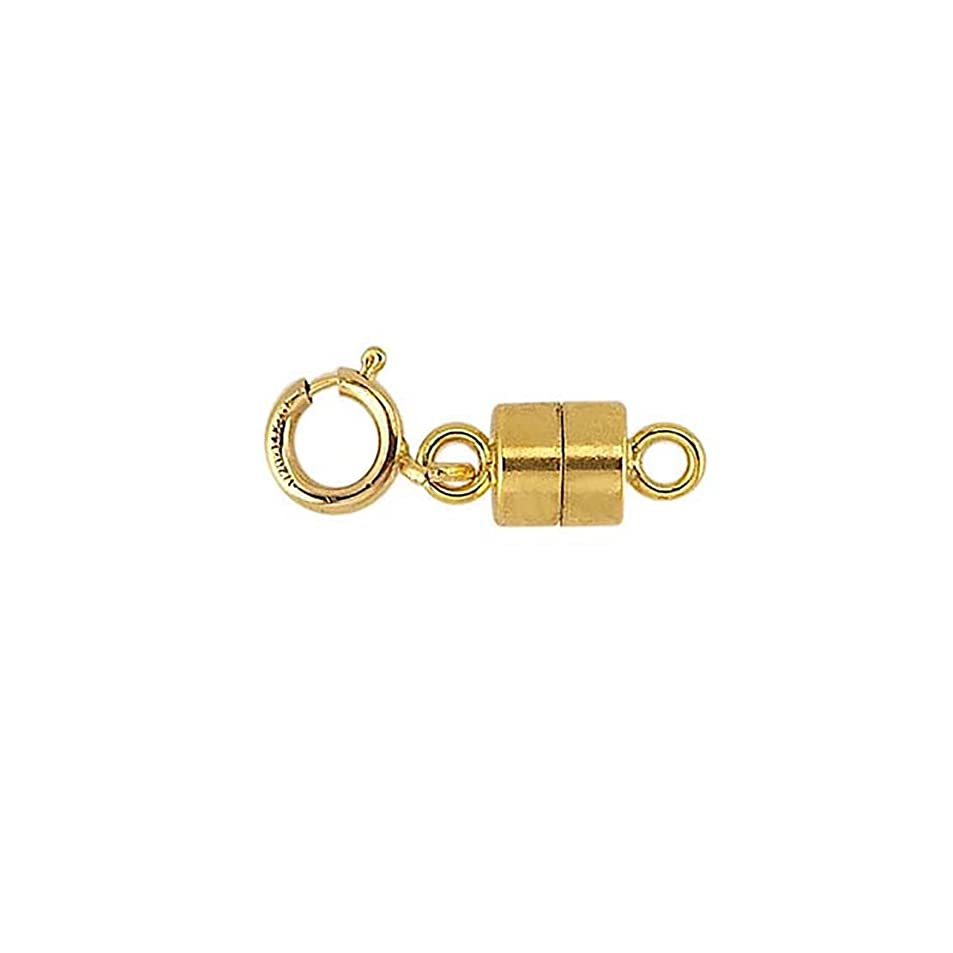 Bedrock Jewelry Magnetic Clasp Converter with Spring Ring 14/20 Yellow Gold-Filled gxuxfnwi7218
