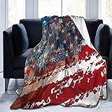 Manta de Franela de Caballo de Bandera de Estados Unidos Manta de Tiro Suave y cálida Manta de Regazo de Primera Calidad Manta de sofá Duradera Manta de Sherpa cómoda