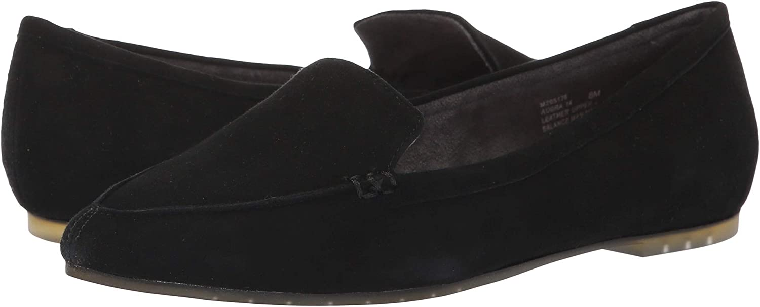 Me Too Audra - Black Suede Pointed Toe Loafer