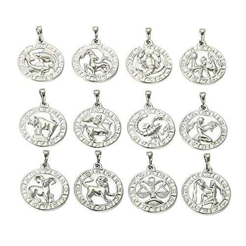 Silber Sternzeichen Kette Gold 18K echt Weiß vergoldet Luxus Damen Gold Schmuck für Frau Callissi Kette ca. 45 cm (Widder)