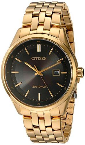 Citizen Corso Herren-Armbanduhr 41mm Gold Solarbetrieben BM7252-51E