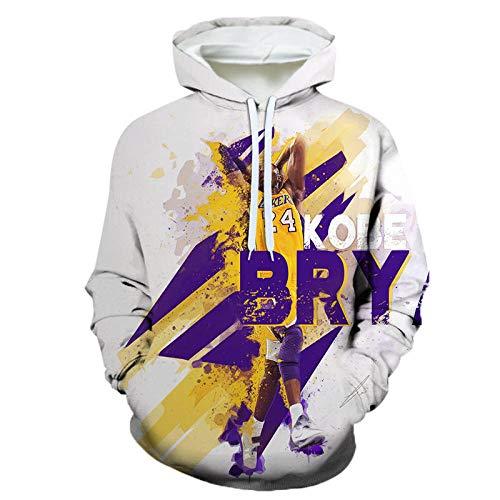 3D Herren Hoodies Basketball Fans Jersey Los Angeles Lakers Lebron James Sweatshirts mit Tunnelzug und Langen Ärmeln Lässig Bequemer Pullover-A_6XL