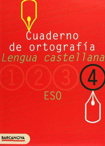 Cuaderno de ortografía 4 (Materials Educatius - Eso - Lengua Castellana) - 9788448917210