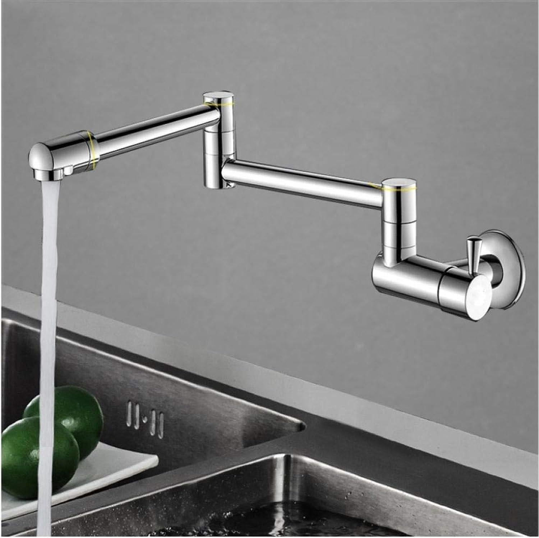 Wffmx Küchenarmaturen 360-Grad-Drehung Einzigen Kaltwasserhahn Waschbecken Wandmontage Wasserhahn Kaltwasserhahn Einzigen Kaltwasserhahn