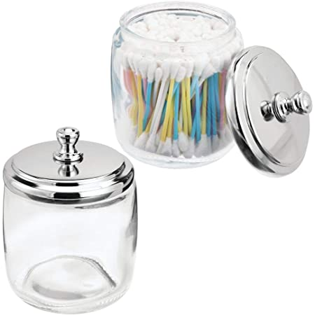 Pads InterDesign Alston Bathroom Vanity Canister Jar For Cotton Balls Swabs