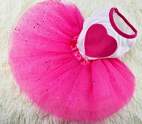 Sanwood Daisy Flower Gauze Tutu Dress Pet Dog Bowknot Princess Clothes Pet Only M