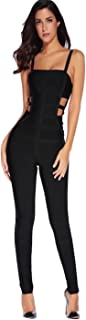 Josie Kylie Jenner Inspired Black Cut Out Bandage Jumpsuit