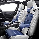 Cubiertas de asiento de automóvil Asiento de cuero transpirable cubiertas de asientos del sistema completo frontal y posterior auto cojines del protector for el Mercedes W204 W211 W210 W124 W212 W202