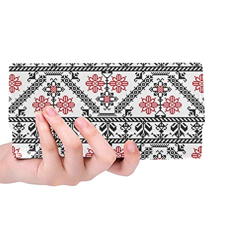 Diseo Personalizado nico Inspirado en Las Mujeres rumanas Monedero Triple Monedero Largo Portatarjetas de crdito Estuche Bolso