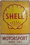 SHELL Retro Tankstellen Reklame, hochwertig geprägtes