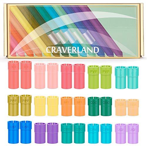 Juego de adaptadores para Cricut - Rainbow Pen Holder Accesorios para Cricut Explore Air Air 2 Maker, compatible con Sharpie BIC Crayola Papermate Gelly Roll Pen (30 piezas)
