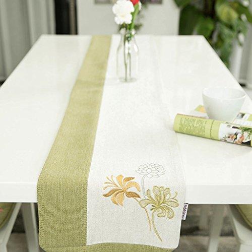 Nappes Linge de maison Coutures Broderie Style pastoral Indicateur de table Luxe Classique Sauvage Table basse Décoration Mobilier de maison Serviette de lit