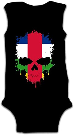 juiceTshirts Newborn Infant Baby Boys Girls Central African Republic Skull Sleeveless Romper Jumpsuit Onesies Clothes Outfit