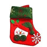 Weihnachts hängende Strümpfe, ZHANSANFM Weihnachten Baum Hängend Party Home Kamin Baum Dekor Christmas Santa Strumpf Socke Geschenk Süßigkeiten TaschenDekoration Nikolausstrumpf