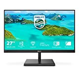 Philips Monitor Gaming 275E1S Monitor, 27' IPS, AMD Freesync, Quad HD 2560 x 1440, 75 Hz, 4 ms, HDMI, Dispaly Port, VGA, Flicker Free, Low Blue Light, VESA, Nero