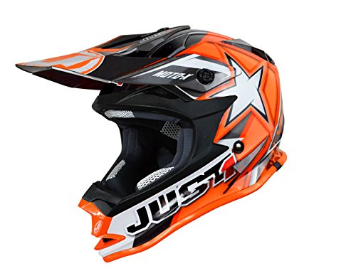 M JUST1 CASCO MOTOCROSS J32 PRO SWAT CAMO FLUO ROSSO OPACO
