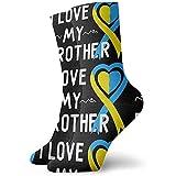 Dydan Tne Conciencia del síndrome de Down Amo a mi Hermano Calcetines, Calcetines de Vestir Calcetines Divertidos Calcetines Locos Calcetines Casuales
