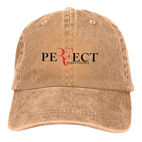 Tengyuntong Unisex Mens Womens Adjustable Baseball Caps Roger Federer Washed Dyed Cowboy Sun Visor Hats